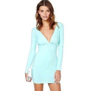 👗 Nasty Gal Sexy Mini Blue Bodycon Dress 👗